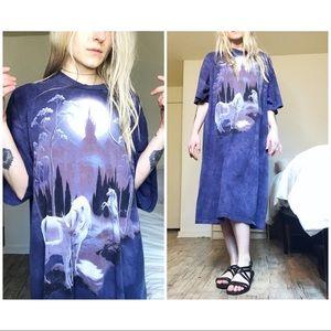 VTG Mythical Unicorn Paradise Maxi Dress /BUY1GET1